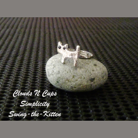 CNC-RR008 - SWING THE KITTEN (SILVER)