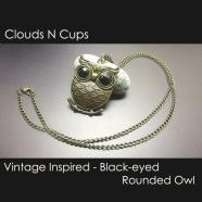 CNC-LN027-BLACK-EYED-ROUNDED-OWL
