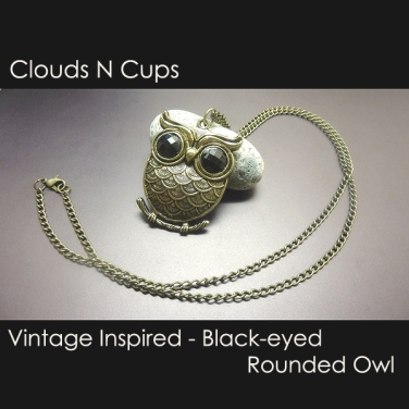 CNC-LN027-BLACK-EYED-ROUNDED-OWL