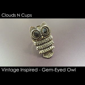 CNC-RR002-AGED-BRONZE-GEM-EYE-OWL