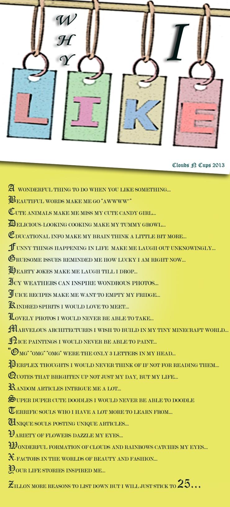 Why I Like - 28-1-2013