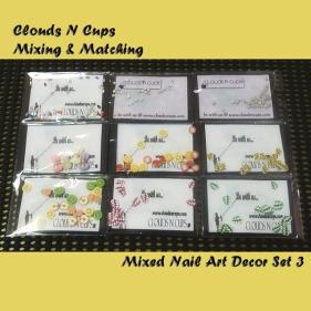CNCSET008 - Mixed Nail Art Decor Set 3