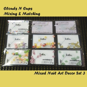 CNCSET008 - Mixed Nail Art Decor Set 3