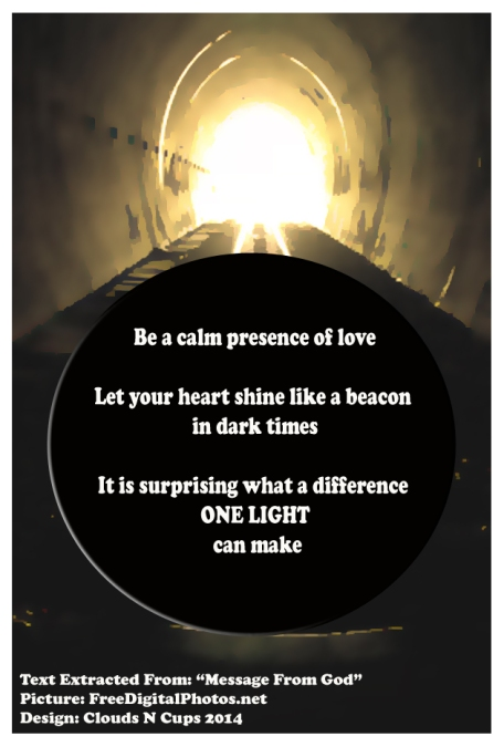 4JAN2013 - BE THAT LIGHT