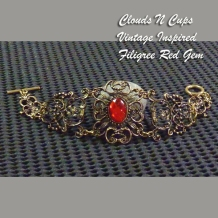 CNC-BL001 - FILIGREE RED GEM