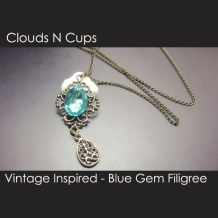 CNC-LN059 - BLUE GEM FILIGREE
