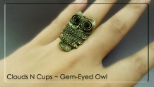 CNC-RR002-AGED-BRONZE-GEM-EYE-OWL-B